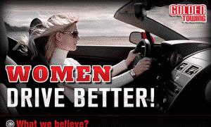 women drive better